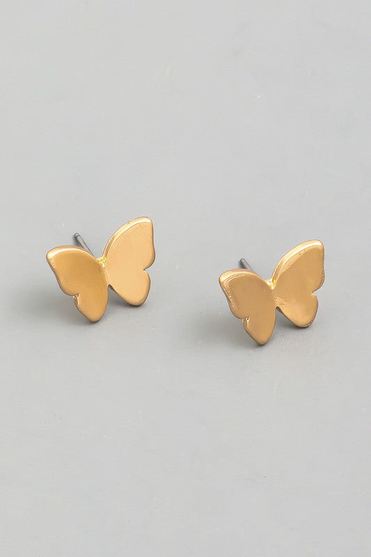 butterfly studs [gold]