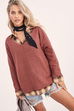 chasing dreams sweater [marsala]