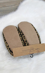 cheetah slippers [brown] - Grace and Edge Boutique