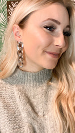 chain earrings [silver] - Grace and Edge Boutique