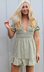 palm & prosecco dress [olive]