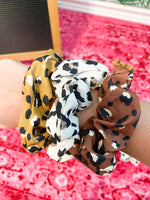 leopard scrunchie - Grace and Edge Boutique