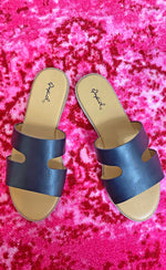 one band strap sandal [black]