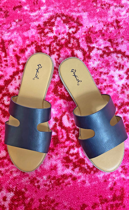 one band strap sandal [black] - Grace and Edge Boutique