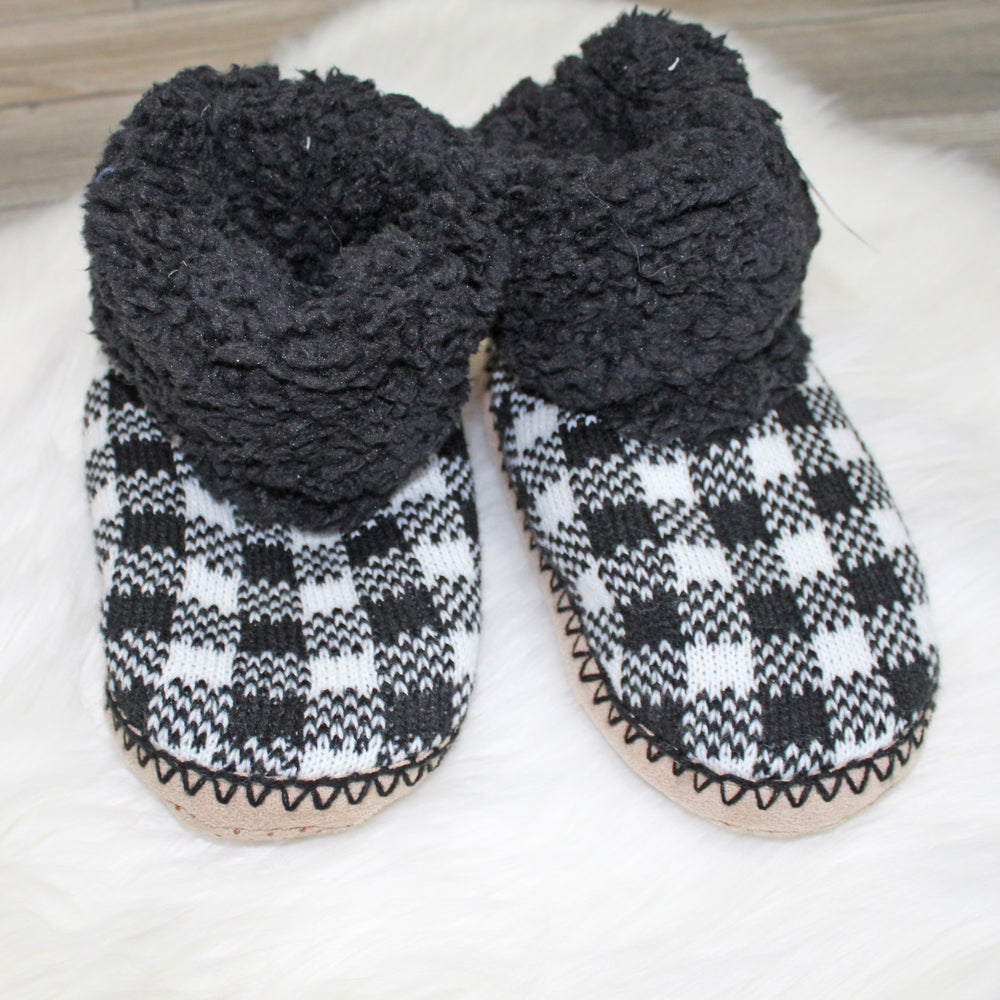 buffalo plaid slippers - Grace and Edge Boutique