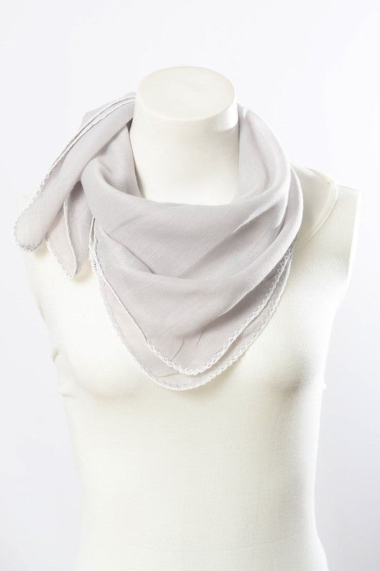 gray bandana scarf - Grace and Edge Boutique