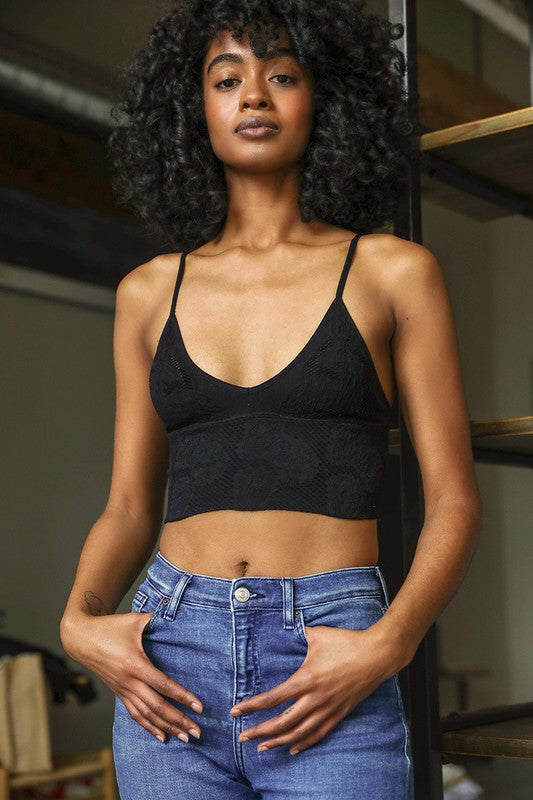 textures seamless bralette [black] - Grace and Edge Boutique