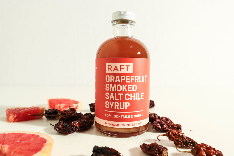 Grapefruit Smoked Salt and Chile Syrup