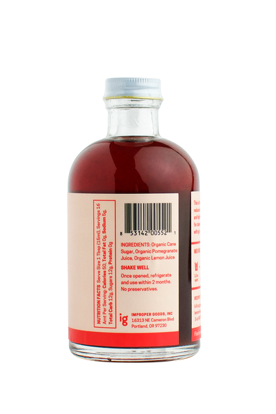 RAFT Grenadine Syrup - Improper Goods, LLC
