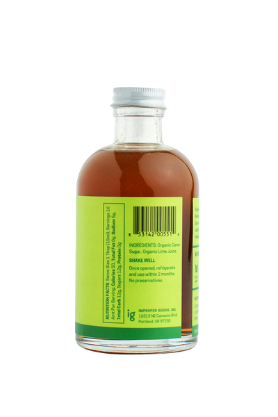 RAFT Lime Syrup - Improper Goods, LLC