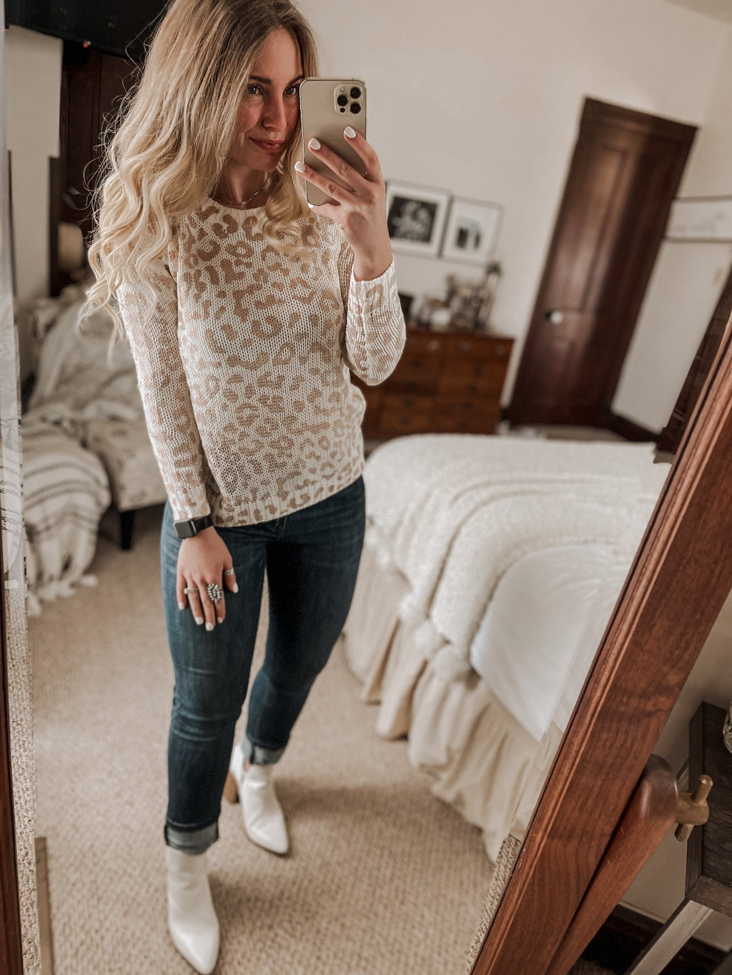 Blush Leopard Sweater