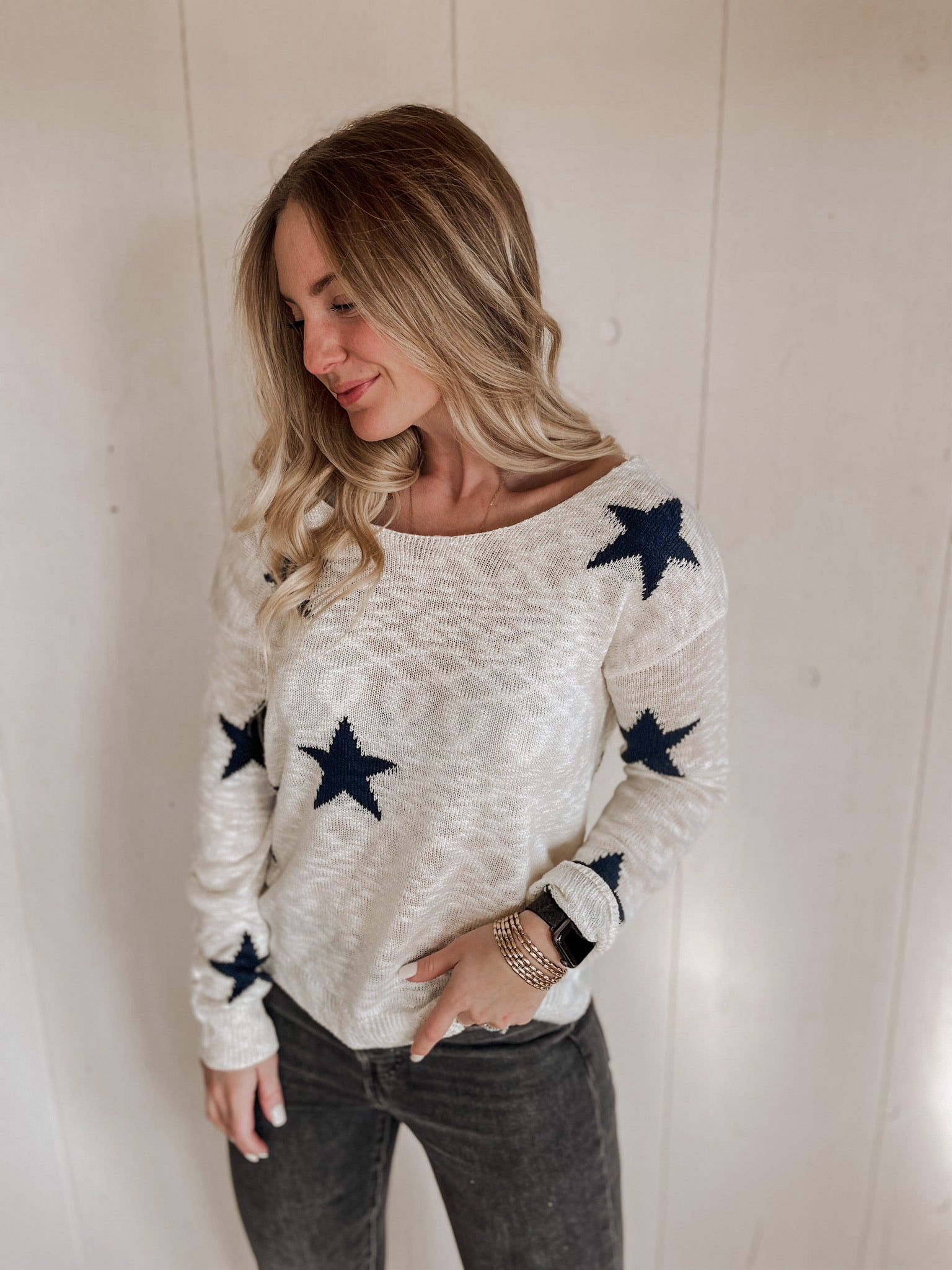 Star Twist Sweater