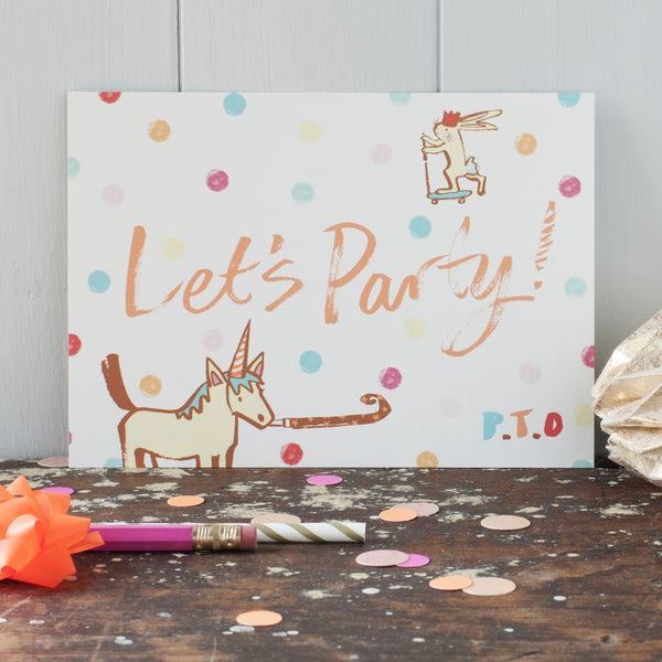 Let's Party invitations - double sided