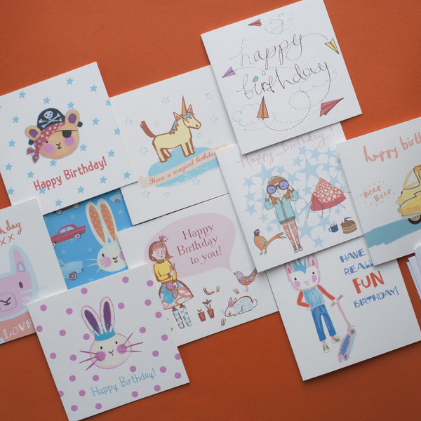 A Pack of Ten Children's Birthday Cards