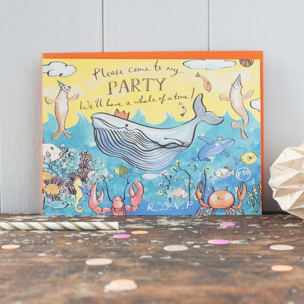 Beach Party invitations - double sided