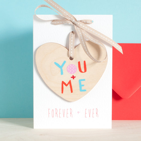 A You and Me Love Heart + Personalised Card