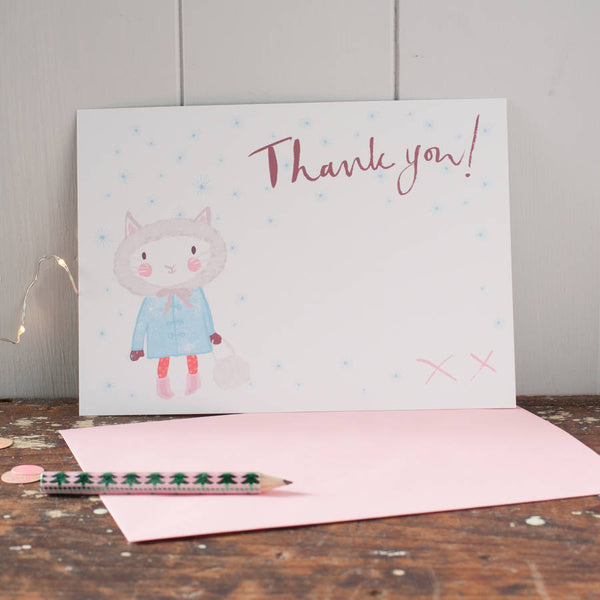 Christmas Kitten Thank You Postcards