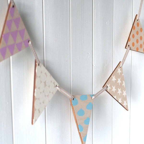Bunting With Scandi Style Patterns