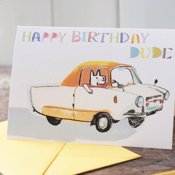 Happy Birthday Dude Card