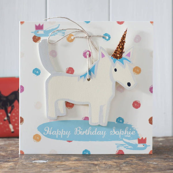 Unicorn Decoration Birthday Card