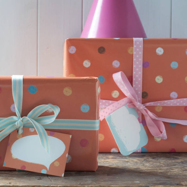 Orange Spotty Wrapping Paper