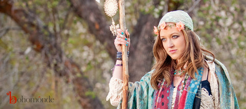Bohemian boho spring outfit look book