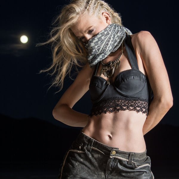 festival fashion edgy night dark boho shoot, boho grunge