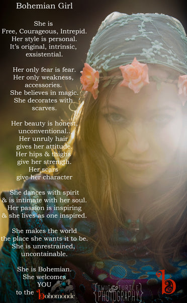 bohemian girl inspirational quote