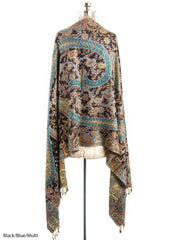 Scarves - Hana Reversible Cashmere Silk Pashmina Scarf, hand made in India -() Bohomonde  - 5