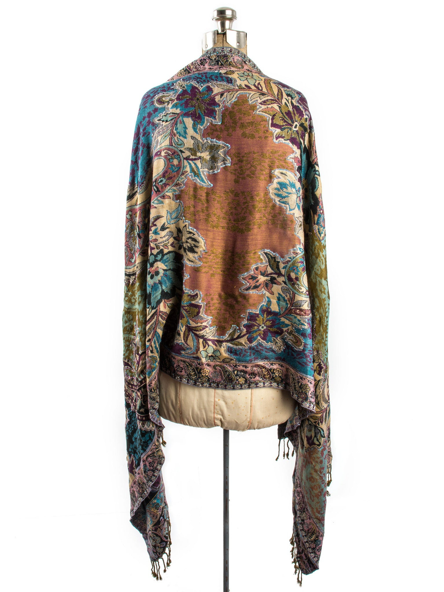 Scarves - Bethshaya Reversible Cashmere Silk Pashmina Scarf, hand made in India -() Bohomonde  - 3