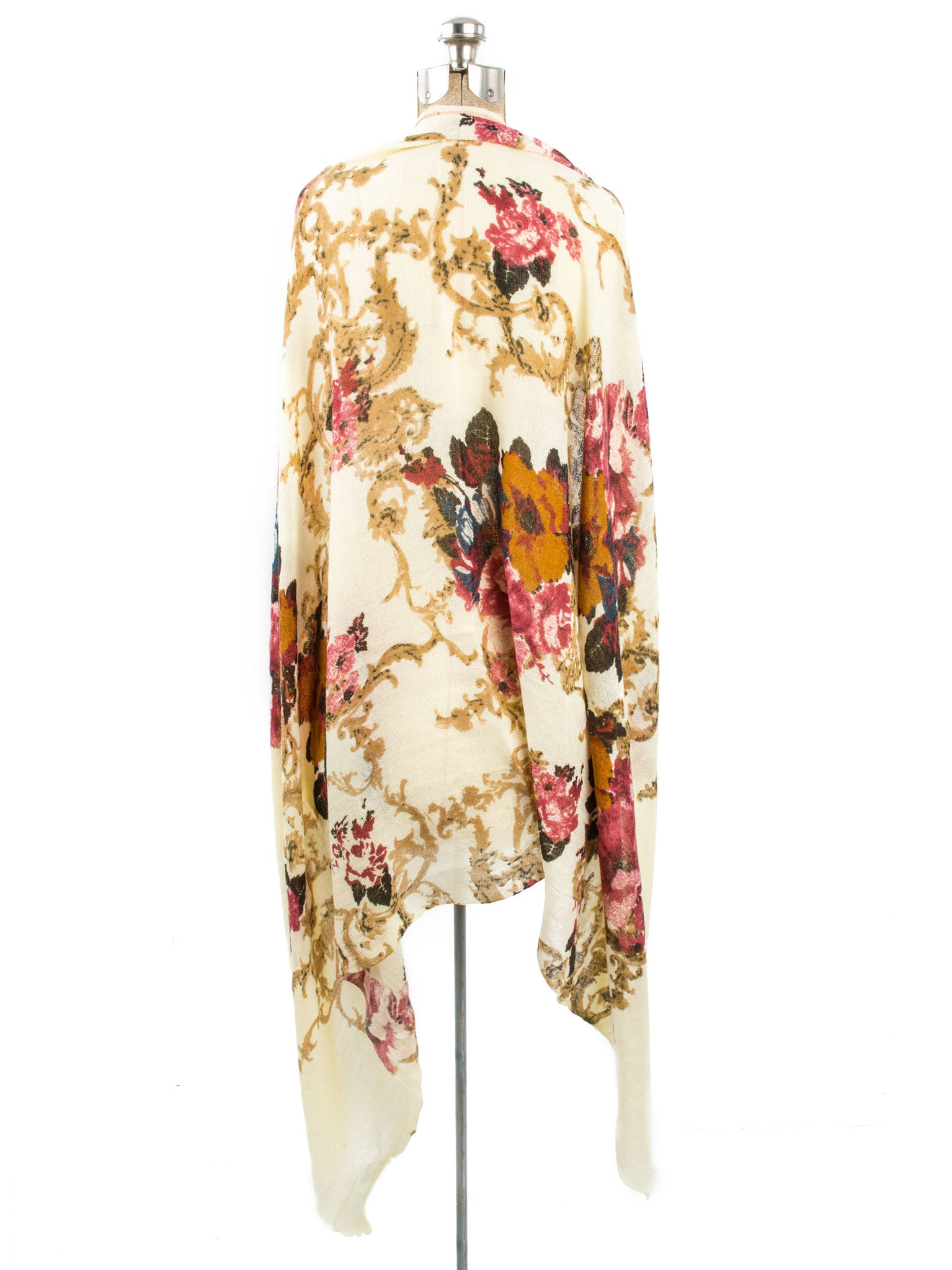 Scarves - Eleanor blanket scarf, oversized winter scarf, floral scarf -() Bohomonde  - 7