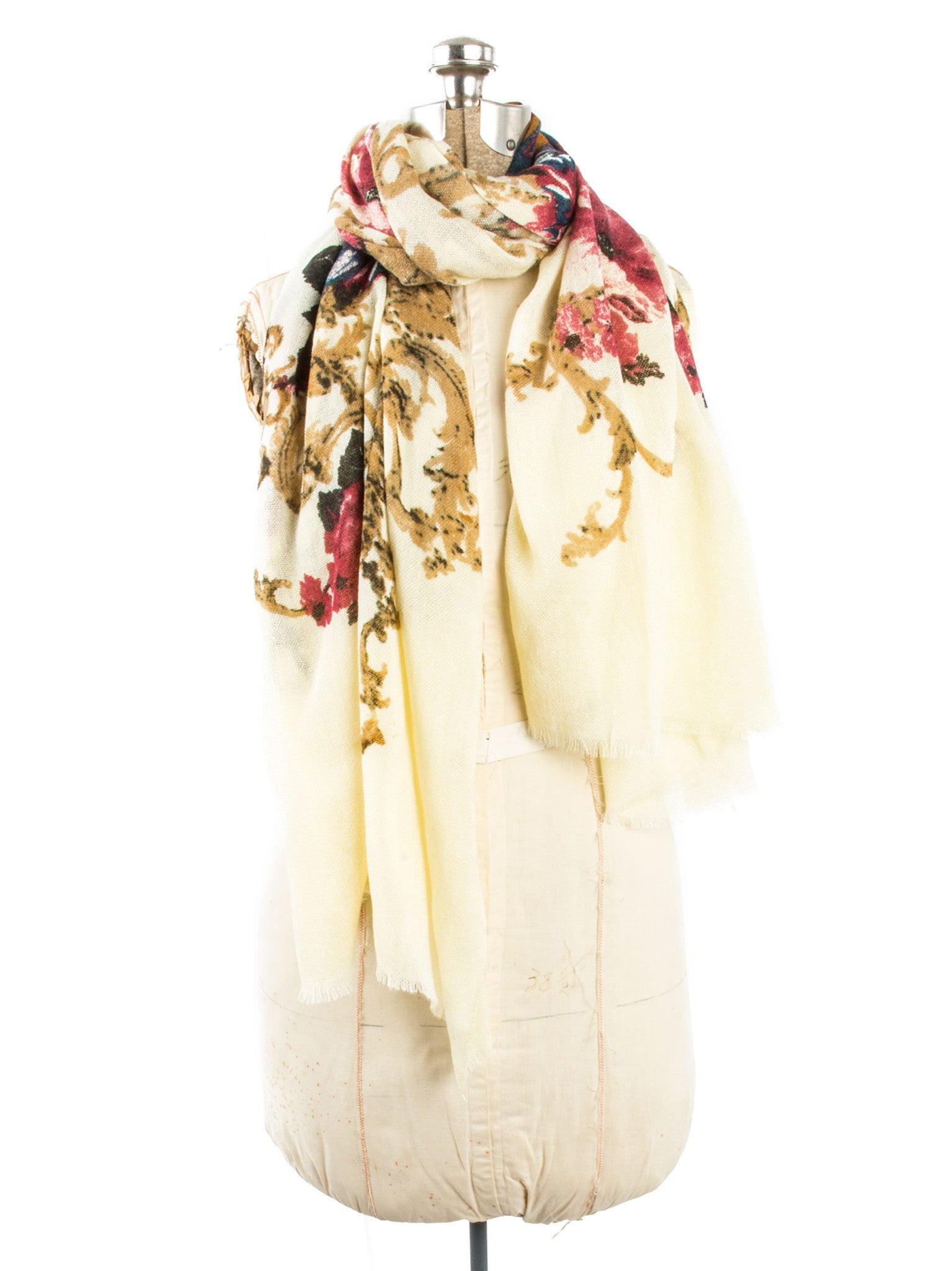 Scarves - Eleanor blanket scarf, oversized winter scarf, floral scarf -() Bohomonde  - 13
