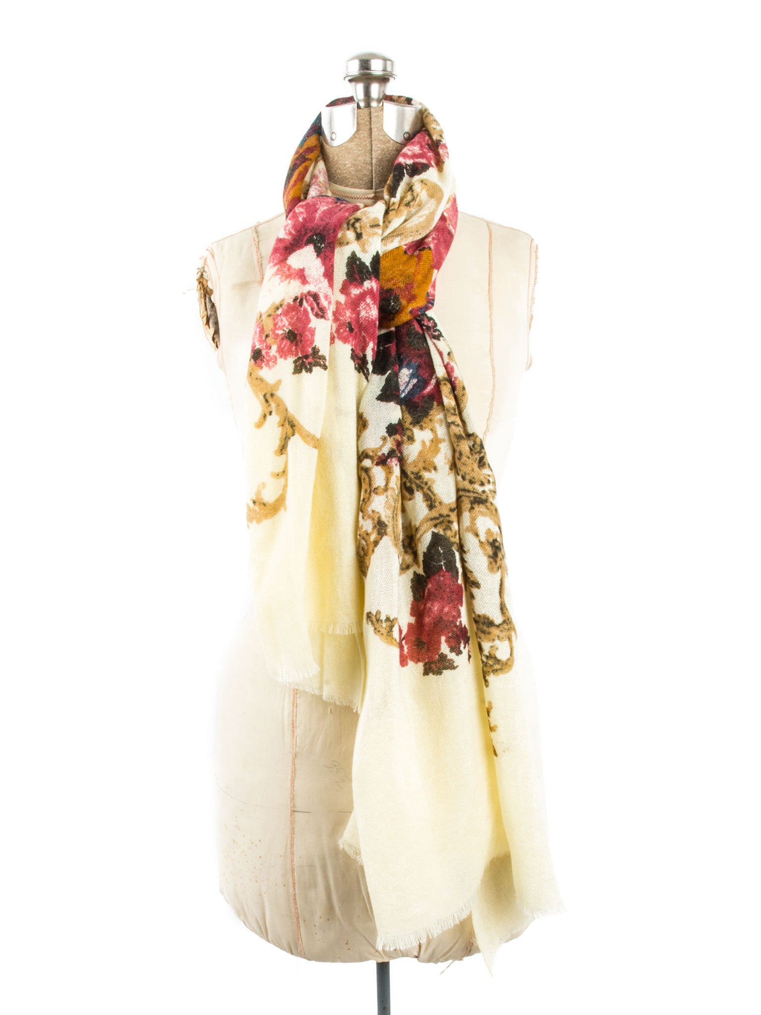 Scarves - Eleanor blanket scarf, oversized winter scarf, floral scarf -() Bohomonde  - 15