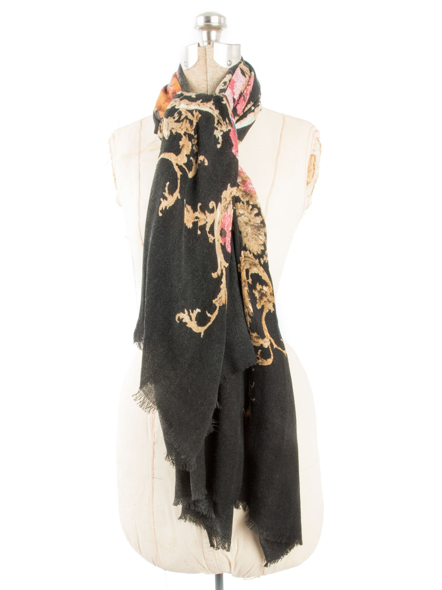 Scarves - Eleanor blanket scarf, oversized winter scarf, floral scarf -() Bohomonde  - 16
