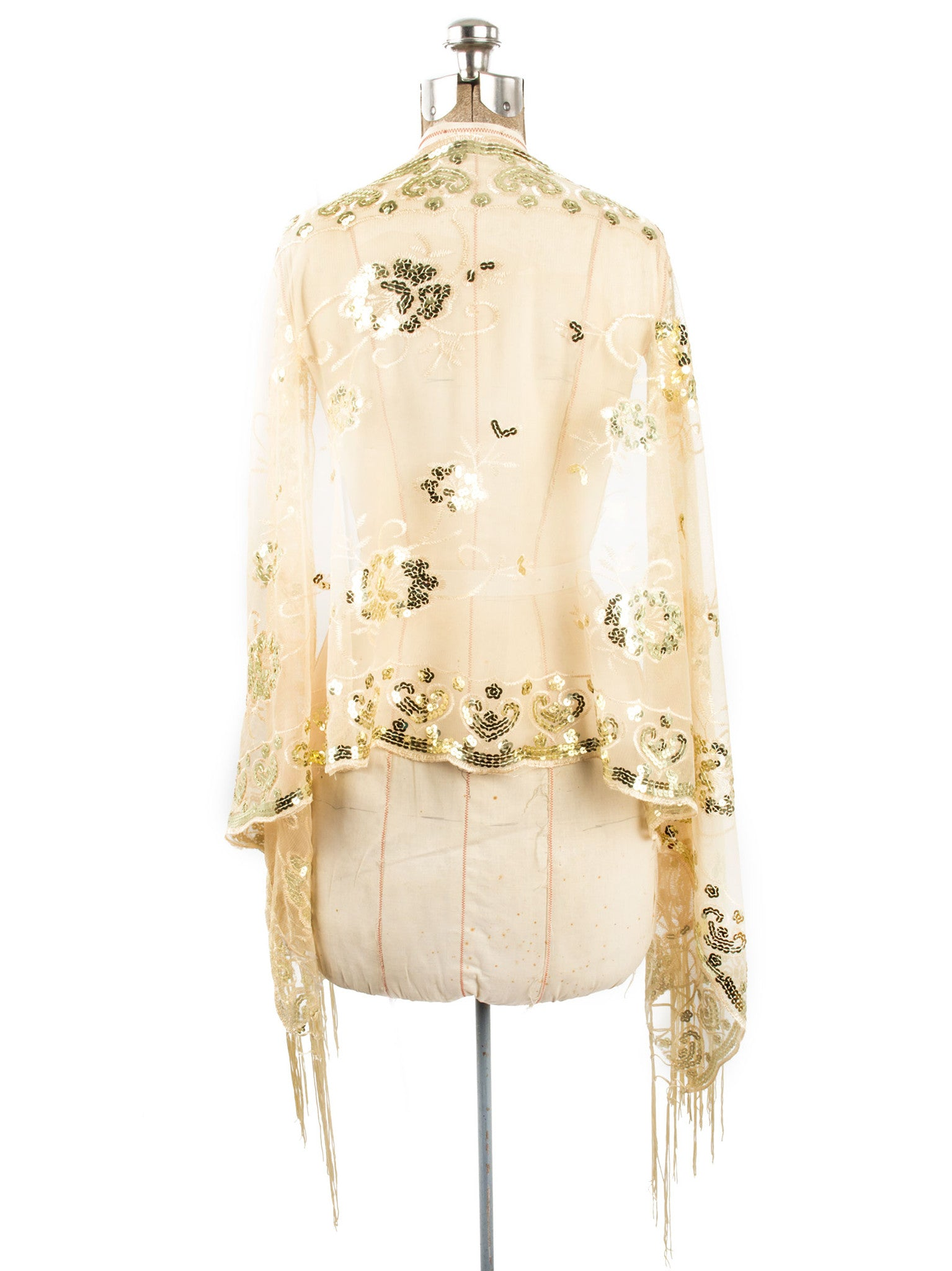 Scarves - Madison Shawl, Long Fringe Sequin Evening Wrap -() Bohomonde  - 19