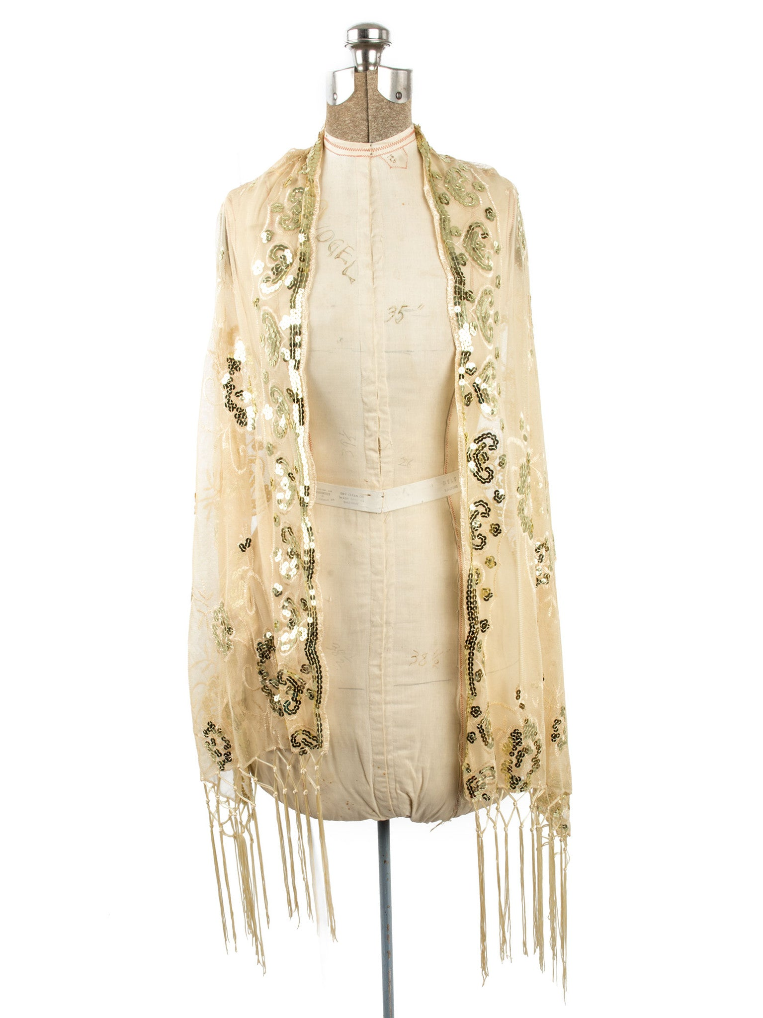 Scarves - Madison Shawl, Long Fringe Sequin Evening Wrap -() Bohomonde  - 20