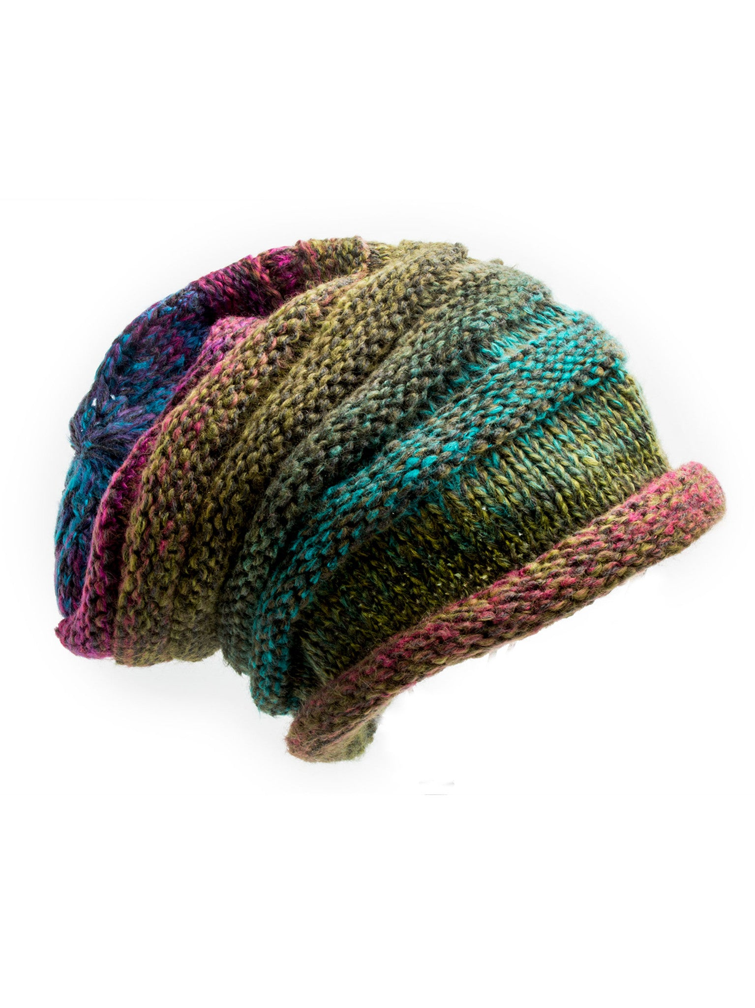 Hat - Aspen, Winter Knit Ombre Beanie -(Mountain Sunrise) Bohomonde  - 1