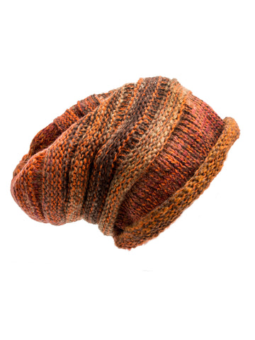 Hat - Aspen, Winter Knit Ombre Beanie -(Autumn Leaf) Bohomonde  - 2