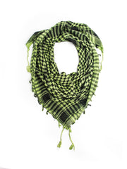 Scarves - Shemagh Scarf, 100% Cotton Square Scarf, Keffiah Scarf -(Green/Black / One Size) Bohomonde  - 3