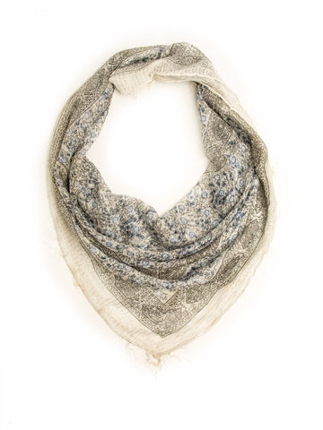 Scarves - Bohomonde The Boho Bandanna, Cotton Gauze Square Scarf -(White / One Size) Bohomonde  - 1