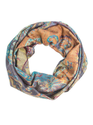 Gaja Shawl, Paisley Indian Elephant Print Scarf, Shawl, Beach Wrap