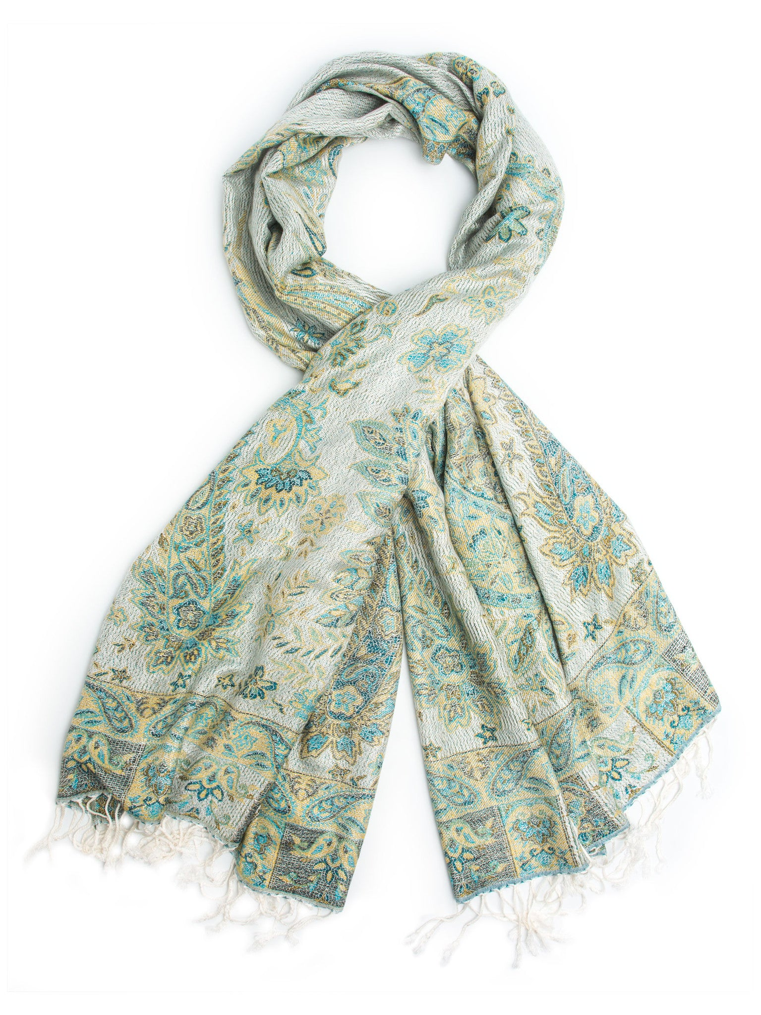 52c68196a Scarves - Jyati Scarf, Pashmina Indian Paisley Traditional Jacquard Scarf - hand  made in India
