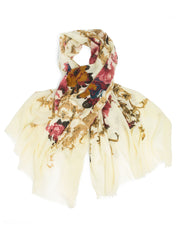 Scarves - Eleanor blanket scarf, oversized winter scarf, floral scarf -() Bohomonde  - 3