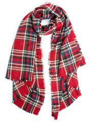 Scarves - Carrie, Oversize Plaid Blanket Scarf, Soft Warm Winter Scarf or Shawl -() Bohomonde  - 2