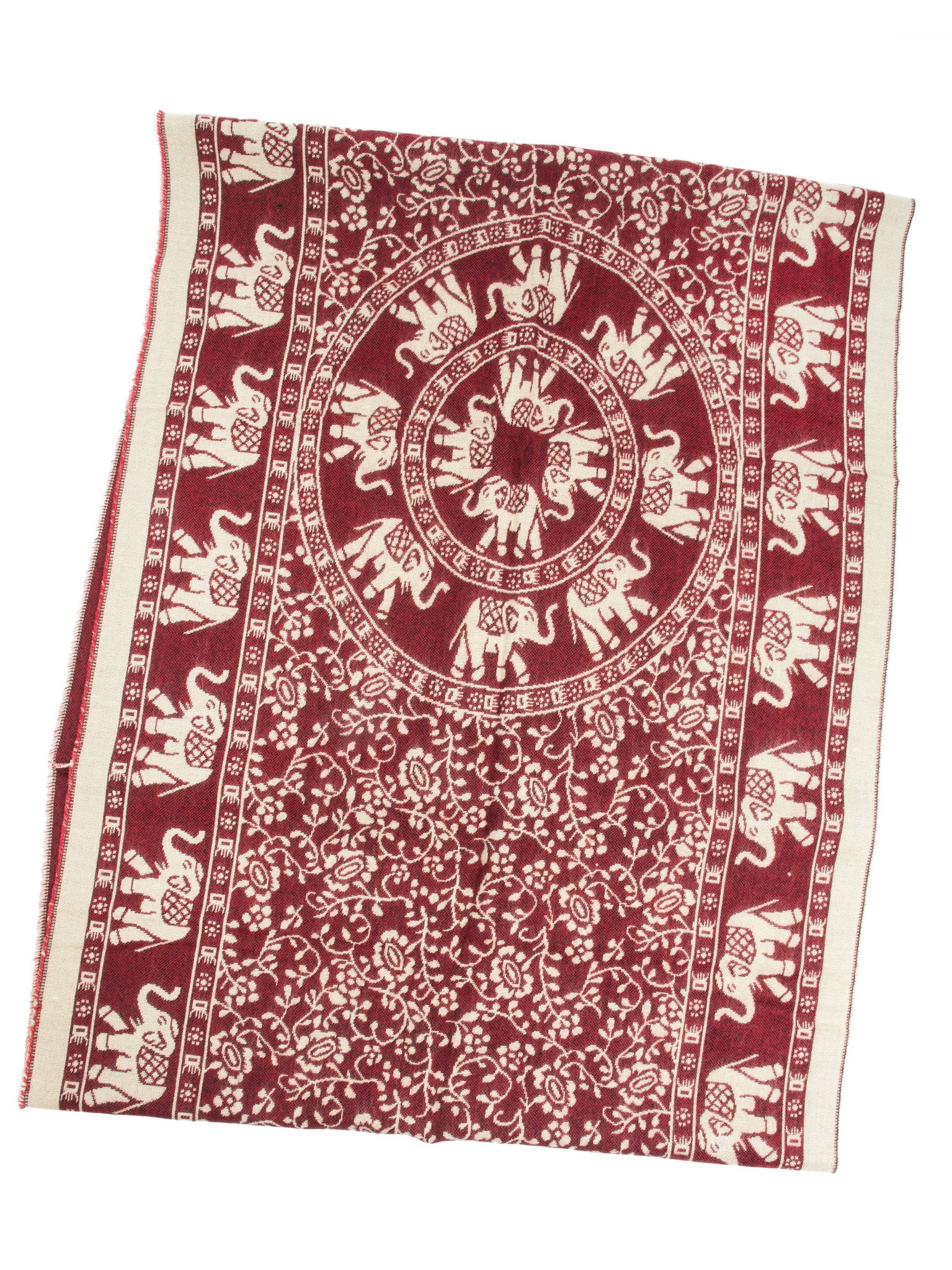 Scarves - Hathi Winter Infinity Scarf, Blanket Scarf, Indian Elephant Design -() Bohomonde  - 7