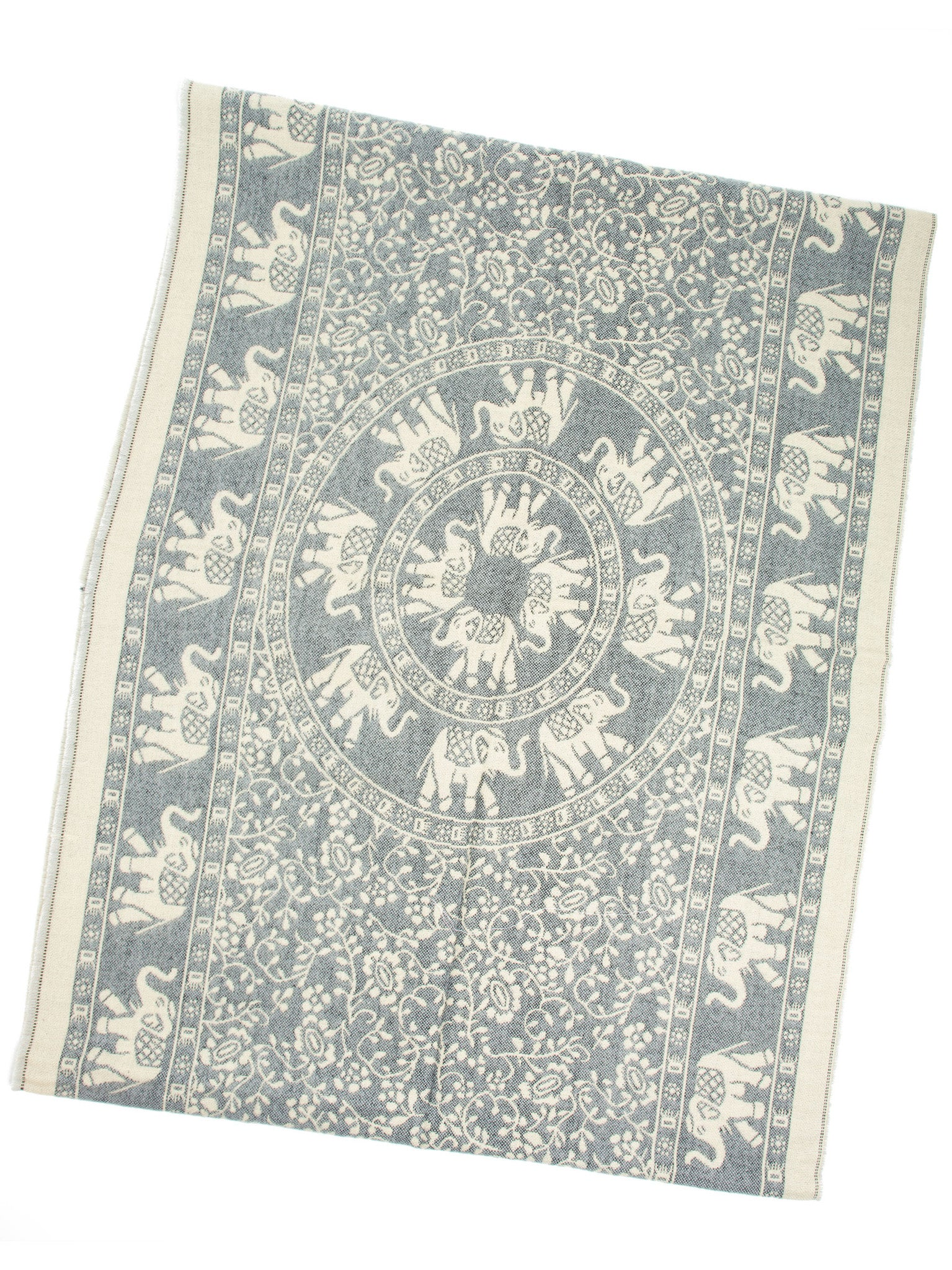 Scarves - Hathi Winter Infinity Scarf, Blanket Scarf, Indian Elephant Design -() Bohomonde  - 4