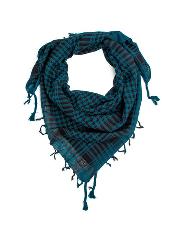 Scarves - Shemagh Scarf, 100% Cotton Square Scarf, Keffiah Scarf -(Dark Teal / One Size) Bohomonde  - 1