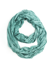 Scarves - Bohomonde Lydia Scarf, Silk/Cotton Crinkle Infinity Scarf, Summer Scarf -(Iced Mint) Bohomonde  - 4