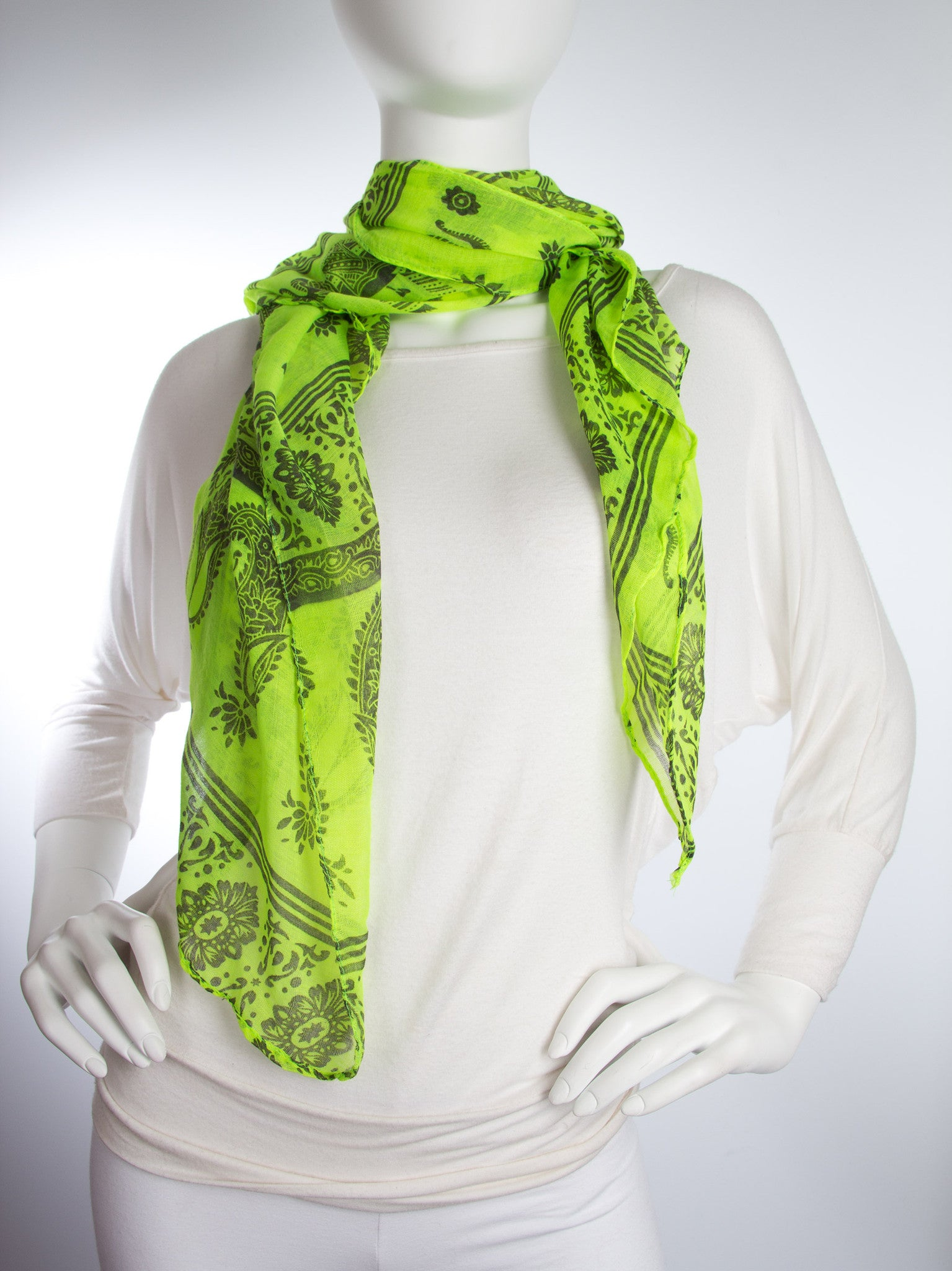 Scarves - Gaja Shawl, Paisley Indian Elephant Print Scarf, Shawl, Beach Wrap -() Bohomonde  - 14
