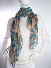 Scarves - Gaja Shawl, Paisley Indian Elephant Print Scarf, Shawl, Beach Wrap -() Bohomonde  - 12